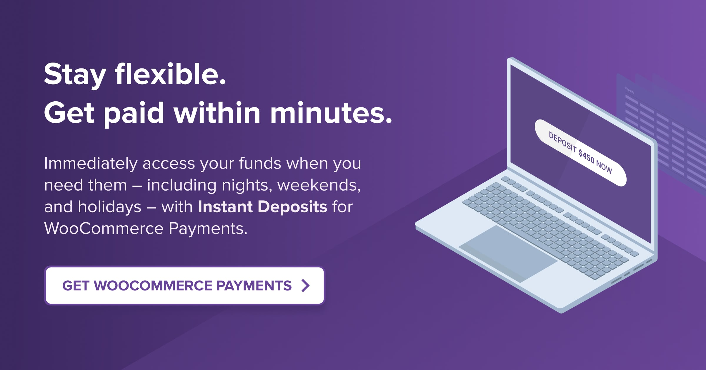 Get Instant Deposits with WooCommerce Payments