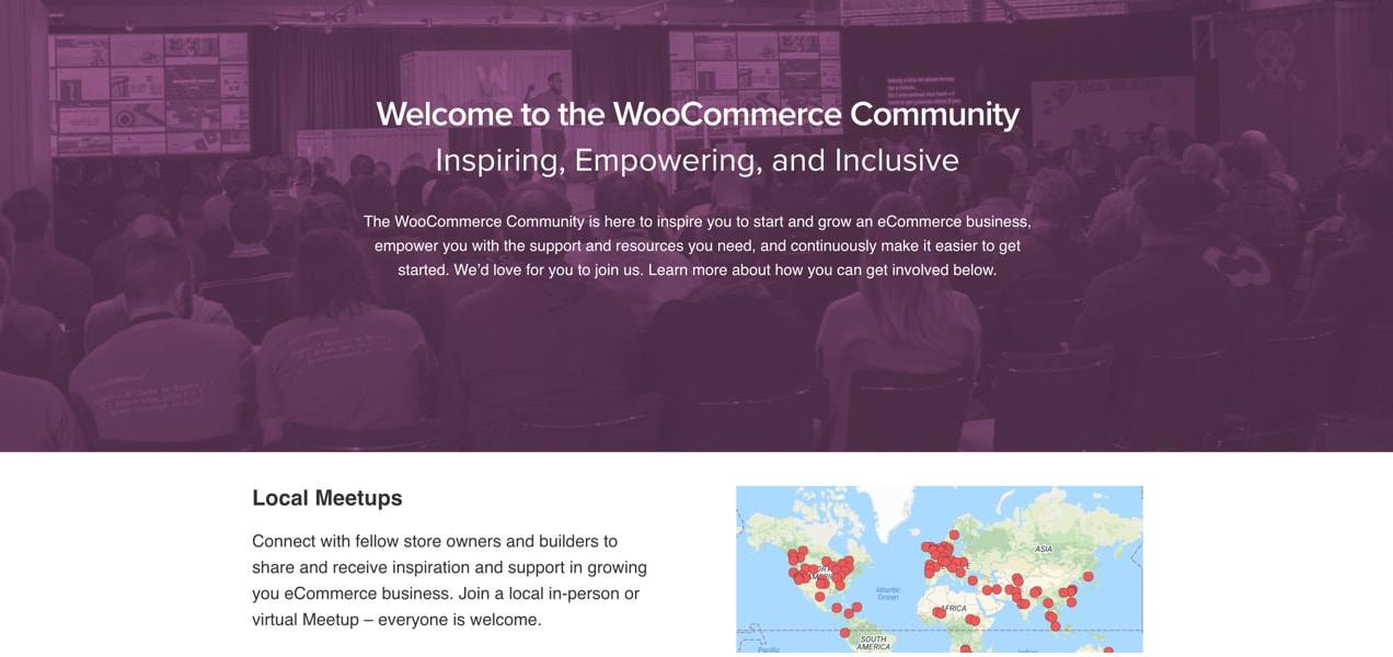 WooCommerce Community page