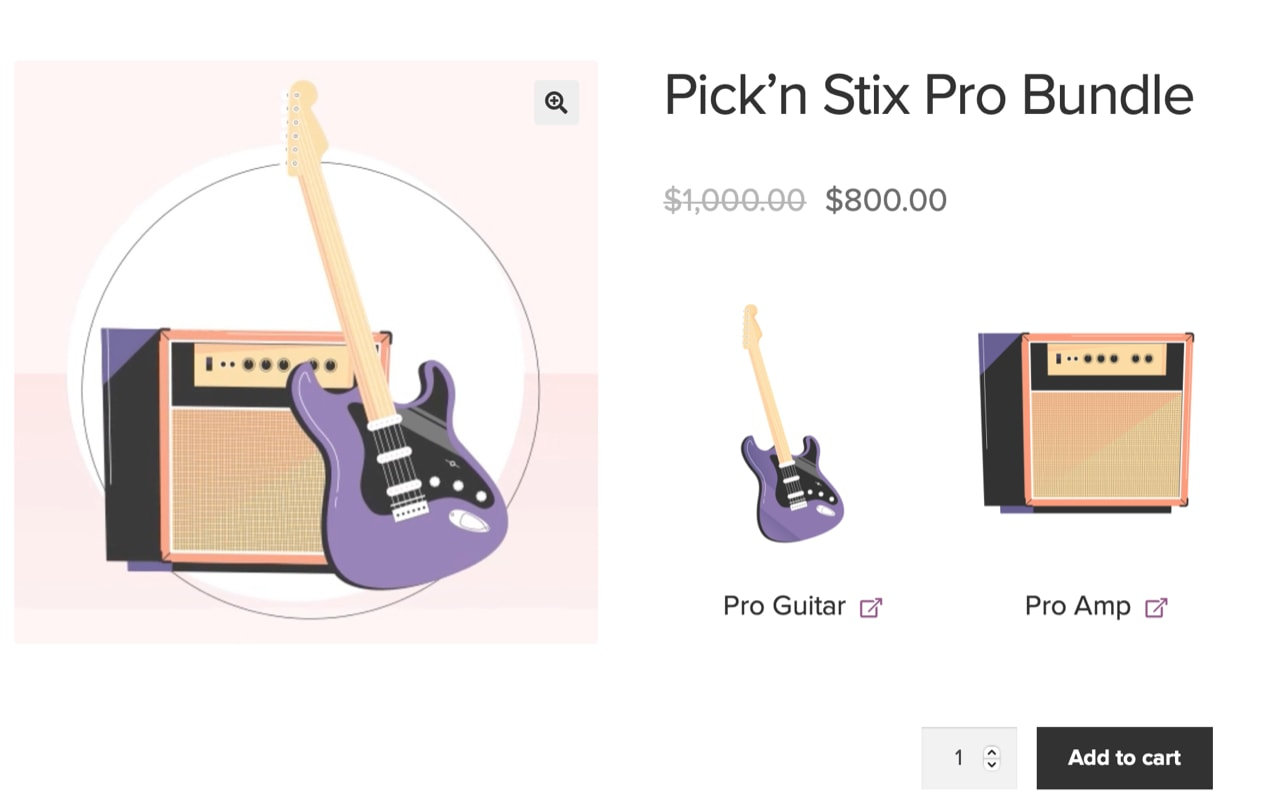 product bundle with a guitar and matching amp