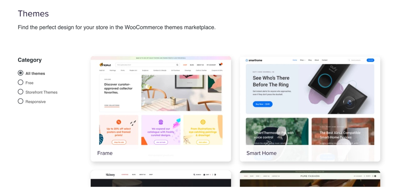 WooCommerce theme marketplace