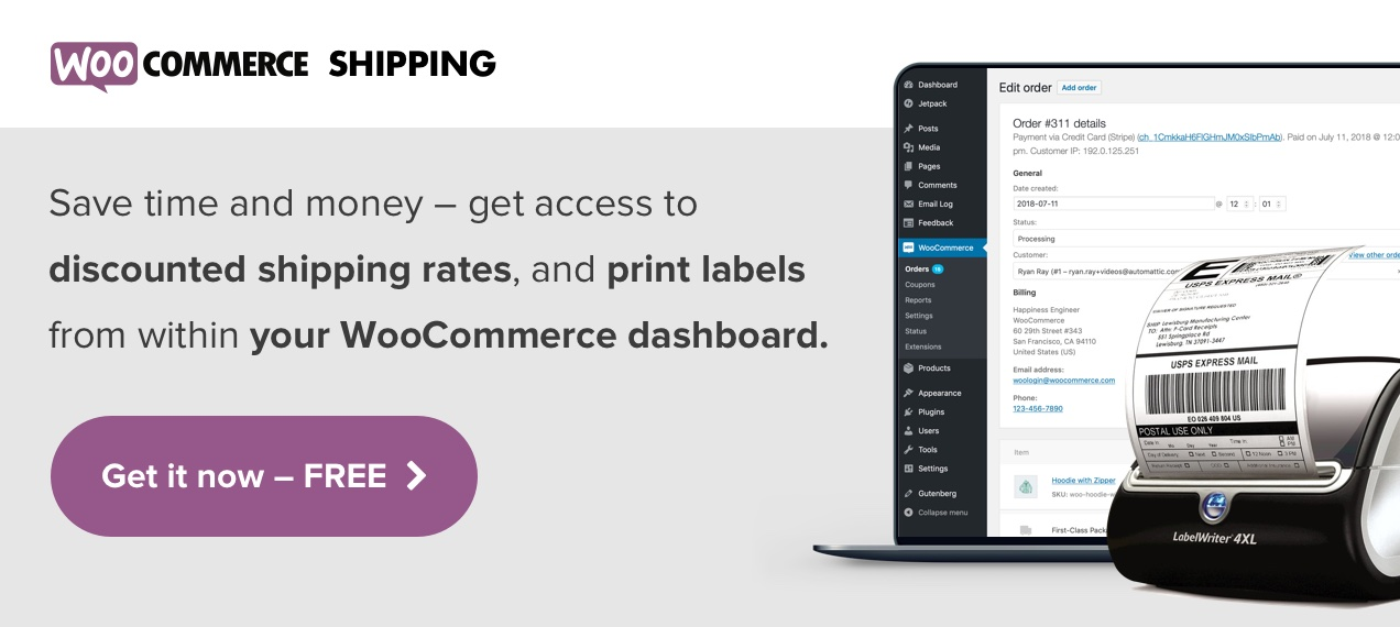 Save time and money with WooCommerce Shipping
