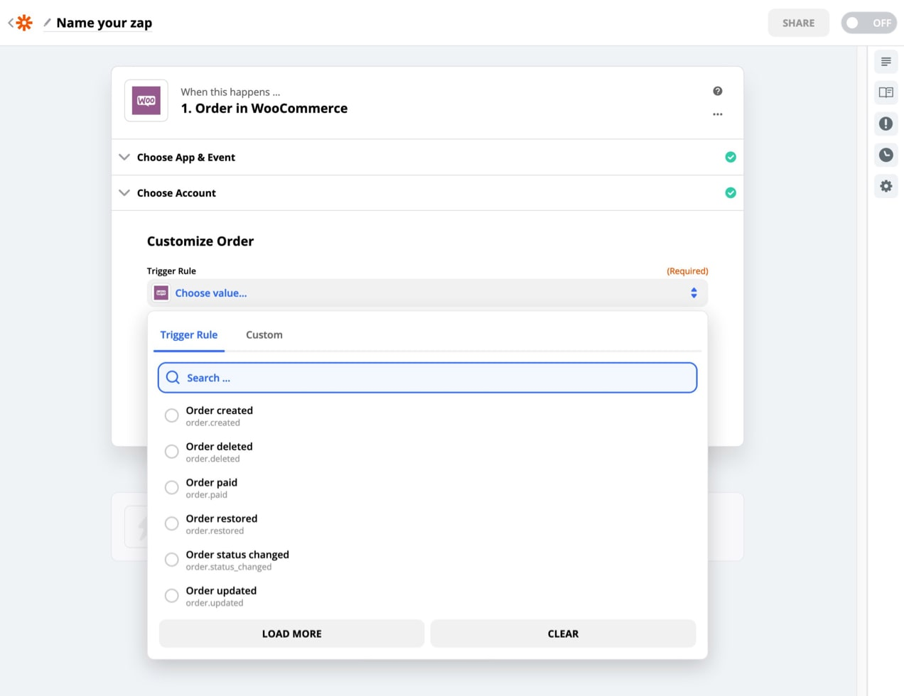 WooCommerce triggers with Zapier