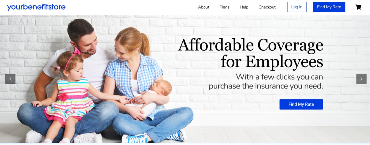 This slide from https://yourbenefitstore.com/ has text on top of the white space in the brick.